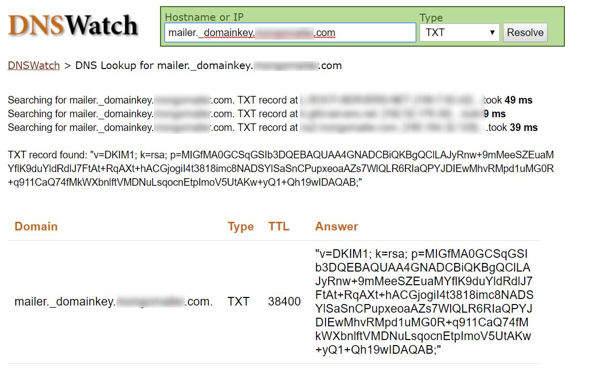 DNS verify