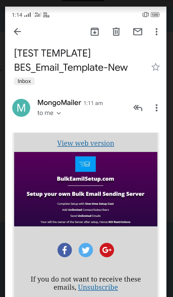 Email in Mobile