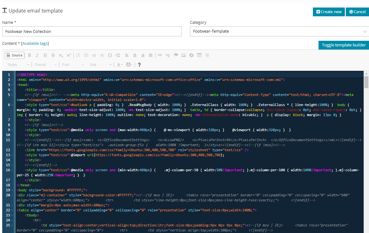 Email Templates-Source Code
